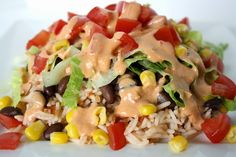 Burrito Bowl with Creamy Chipotle Sauce - This is an EXCELLENT meatless meal. The chipotle sauce was really good and so easy to make. I added cheese and chopped avocado as the add-ins. Used rice and not quinoa.