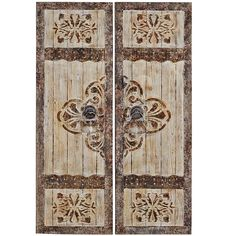 Would be cool to paint something simliar on wood- Ancient Doors Art   Pier 1 Imports