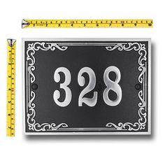 Plaque personnalisée de numéro de maison en métal/ plaque | Etsy House Address Numbers, Metal House Numbers, Address Plaque, Leicester, House Number Plates, Style Anglais, House Plaques, Door Gate Design, Outdoor Paint