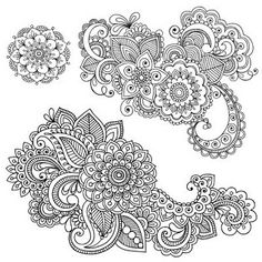 Zentangle Coloring Pages for Adults, Traditional Henna, Design . Doodles Zentangles, Zentangle Patterns, Embroidery Patterns, Henna Patterns, Colouring Pages, Adult Coloring Pages, Coloring Books, Mandala Coloring, Tatoo Henna