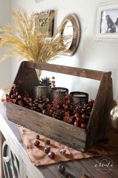 Toolbox Fall Candle Decor is perfect for Fall Kitchen decor ideas. Simply and easy, plus you get to choose the colors.