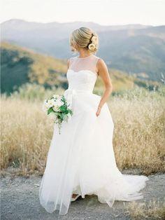 Flowy Wedding Dress,Modest Wedding Dress,2021 Wedding Dress,Bridal Gown,WS036
