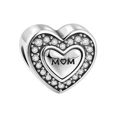 SOUFEEL Heart Mom Charms 925 Sterling Silver Fit European Bracelets and Necklaces Mom Unforgettable Gift. SOUFEEL products are genuine S925 Sterling Silver. The material of the item consists of 92.5% silver combined with other metals; 100% safe for sensitive skin. Most items are in stock in US Local Warehouse. SOUFEEL charms' hole size is between 4.2mm-5.5mm. Most charms and beads are compatible with most U.S. and European bracelets and necklaces. SOUFEEL products have no screw threads...