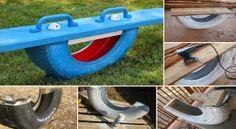 DIY Tire Teeter Totter ~ Goods Home Design