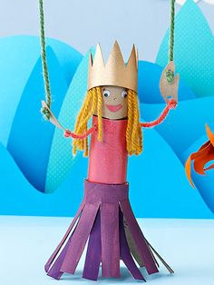 Princess Marionette (via Parents.com) this craft is versatile and the students can be creative in their designs. #comp1010