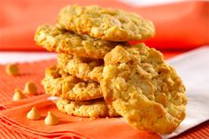 Crunchy Butterscotch Cookies- Looking for a great tasting cookie with a satisfying crunch? Bake up these butterscotch and coconut treats and share them with the whole family.
