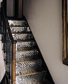 mirrored staircase