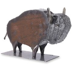 Wild Buffalo Metal Tabletop Sculpture Native Art ($290) ❤ liked on Polyvore featuring home, home decor, outside home decor, buffalo sculpture, outdoor metal sculpture, outdoor sculpture and outdoor home decor