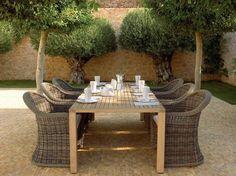 Gartentisch aus Teakholz mit Sitzplatz für sechs Personen