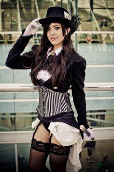 Zatanna Cosplay by Anne Revan from DC Steampunk Cosplay Steampunk Cosplay, Chat Steampunk, Mode Steampunk, Style Steampunk, Gothic Steampunk, Steampunk Clothing, Steampunk Fashion, Gothic Fashion, Asian Steampunk