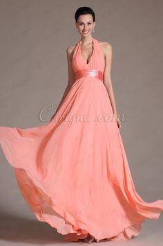 2014 New Graceful Halter Sexy V cut Bridesmaid Dress (C00091846)