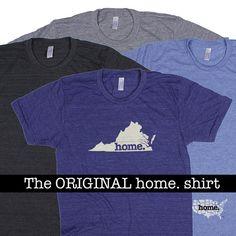 Virginia Home. shirt Men's/Unisex by HomeStateApparel on Etsy
