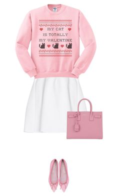 """""""my cat"""" by mimas-style ❤ liked on Polyvore featuring malo and Yves Saint Laurent"""