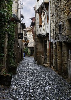 Stone street of Billom ~ Auvergne French Alps, French Countryside, Rafting, Stone Street, Clermont Ferrand, A Discovery Of Witches, Beaux Villages, Rhone, France Travel