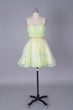 Organza A-Linie plissiertes schickes mini Abiballkleid/ Süß 14 Geburtstag Kleid