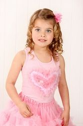Kaiya Eve Pink With Pink Heart  Tie-Back Tank. everything but the princess