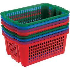 Classroom Stacking Baskets, Small – Royal Colors