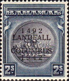 Bahamas 1942 Landfall of Columbus Overprint Fine Used SG 171 Scott 125 Other Bahamas Stamps HERE