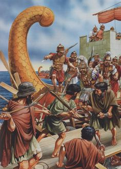 The pirate threat continues until the century BC and very detrimental to the Roman Empire. It took hundreds of years to the Roman Empire to combat piracy. Greek History, Roman History, Ancient History, Carthage, Ancient Rome, Ancient Greece, Punic Wars, Roman Legion, Medieval World