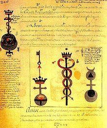 """Extracto """"The alquimia Flamel,"""" Denys Molinier. Siglo XVIII."""