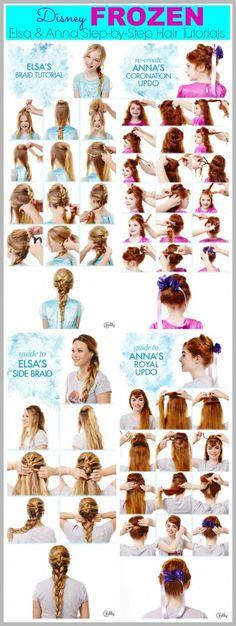 Frozen Hair Tutorials - Elsa and Anna Hacks