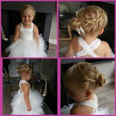 Bruidsmeisje bij Bruid in Huizen juni 2016 www.hairclusief.nl