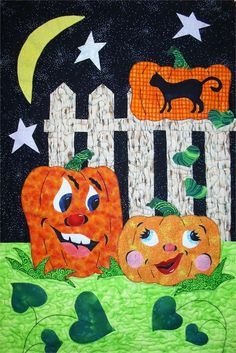 Adorable Halloween quilt pattern!  Pumpkin Love Quilt Pattern- $9.00 by Barb Sackel - Rose Cottage Quilting.  Check out our holiday quilt patterns. https://www.pinterest.com/quiltwomancom/holiday-quilt-patterns/   Subscribe to our mailing list for updates on new patterns and sales!  http://visitor.constantcontact.com/manage/optin?v=001nInsvTYVCuDEFMt6NnF5AZm5OdNtzij2ua4k-qgFIzX6B22GyGeBWSrTG2Of_W0RDlB-QaVpNqTrhbz9y39jbLrD2dlEPkoHf_P3E6E5nBNVQNAEUs-xVA%3D%3D