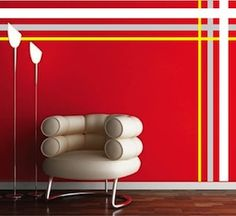 Custom Wall Stripes Sample Three- Choose between stripe design packages containing from thirty two stripes all the way to two 11 stripes in width. Stripes available from to in length and in the color of your choice. Striped Room, Striped Walls, Vinyl Wall Decals, Wall Stickers, Geometric Wall Paint, Wall Paint Patterns, Wall Appliques, Diy Wall Painting, Funky Home Decor