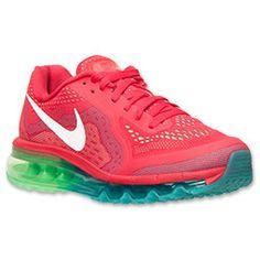 Women's Nike Air Max 2014 Running Shoes | FinishLine.com | Legion Red/White/Tribe Green/Light Lucid