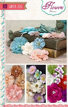 who doesn't love Prima flowers! so excited for these to be released. another CHA sneak peek Handmade Flowers, Diy Flowers, Scrapbook Paper Flowers, Paper Bouquet, Bright Flowers, Craft Tutorials, Craft Ideas, Flower Tutorial, Flower Crafts
