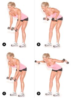 The Row/Flye Combo targets your back and delts in one shot. (Target Muscles: latissimus dorsi, rhomboids, trapezius, lateral deltoids.) | http://www.oxygenmag.com/training/two-in-one-toning/