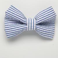 Small Royal Blue Seersucker Bow