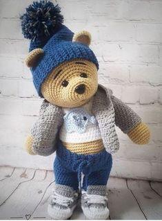 Mesmerizing Crochet an Amigurumi Rabbit Ideas. Lovely Crochet an Amigurumi Rabbit Ideas. Knitted Teddy Bear, Crochet Teddy, Crochet Patterns Amigurumi, Cute Crochet, Crochet Crafts, Crochet Dolls, Crochet Baby, Crochet Projects, Diy Crafts