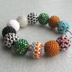 Beaded Bead Tutorial - Pattern - Instructions #beadwork