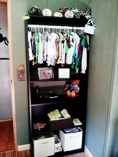 Diy baby closet bookshelf storage solutions 40 New ideas