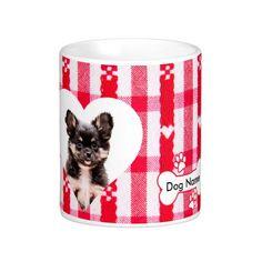 #Custom #Heart Shaped #Chihuahua #Coffee #Mug #animal #dog #pet #gift #birthday  11 oz