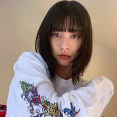 Asian Hair Bob, Korean Short Hair, Ulzzang Hair, Medium Hair Styles, Long Hair Styles, Mullet Hairstyle, Hair Streaks, Shot Hair Styles, Mid Length Hair