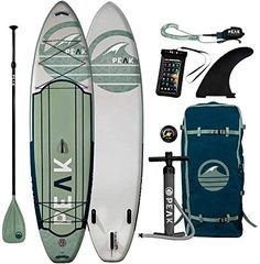 $595  ·  Buy Peak Expedition Inflatable Stand Up Paddle Board | 10'6 11' Long x 32 Wide x 6 Thick | Durable Lightweight Touring SUP | Stable Wide Stance | Includes Paddle, Leash, Bag, Center Fin Online at Top…More #supstuff