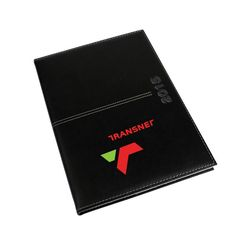 Quark Diary A4 Black Product Size: 210w x 297h Branding: screen print 1 colour , Screen print 2 colours Material: leatherette