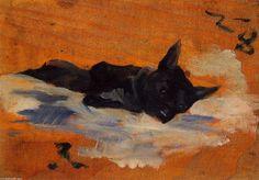 LIttle Dog  Henri De Toulouse-Lautrec  Media Oil  Style Art Nouveau  Subject Animals