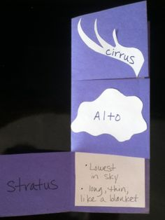 Here's a nice idea for a foldable on clouds.