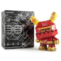 Red Chroma 5-inch Dunny by Kidrobot MIB
