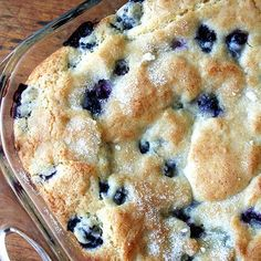 Christmas family brunch idea  Buttermilk-Blueberry Breakfast Cake.
