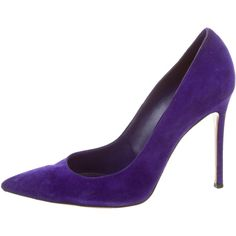 Pre-owned Gianvito Rossi Suede Round-Toe Pumps ( 325) ❤ liked on ... 21738ecef3cb