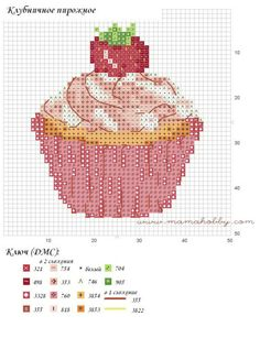 ru / Фото - Various CupCakes - Auroraten Cupcake Cross Stitch, Cross Stitch Bookmarks, Cross Stitch Cards, Cross Stitch Animals, Cross Stitch Kits, Counted Cross Stitch Patterns, Cross Stitch Designs, Cross Stitching, Cross Stitch Embroidery