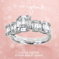 The key to a radiant holiday: this stunning white gold ring with diamonds. Come and join us at Neiman Marcus Denver.