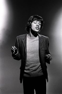 Those lips!!  young Mick Jagger | black & white | the rolling stones | vintage | hot lips | iconic | rock n roll