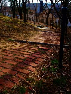 Burial Hill  Plymouth, MA  #plymouth #massachusetts #burialhill #winter #stairs #brick