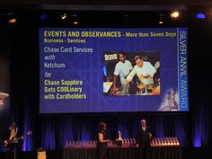 Chase (*client) and Ketchum with another Silver Anvil award win!