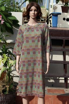 Retro Groovy Colorful Dotted Half Sleeve loose Rear Zipper Stretchy Casual Long Dress  $13.00 USD Only 1 available  https://www.etsy.com/listing/194006906/retro-groovy-colorful-dotted-half-sleeve?ref=listing-23  https://www.facebook.com/pages/Savvy-Ladies/796694807024977?ref=hl